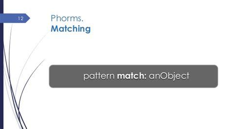 first class patterns first class patterns for object matching