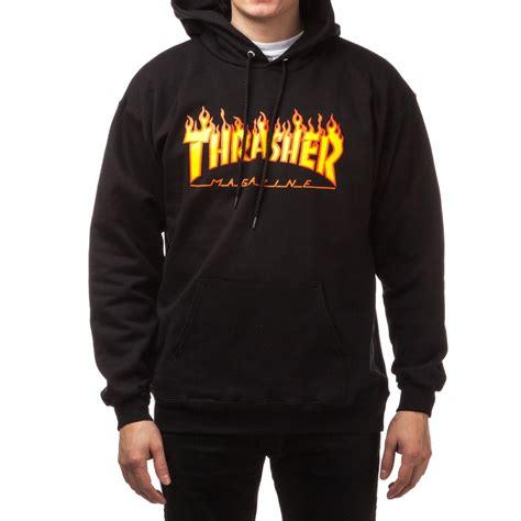 Sweater Thrasher Black Plece Tebal home gt apparel sweatshirts and hoodies thrasher pictures