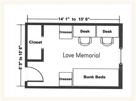 lincoln memorial floor plan love memorial hall university housing university of