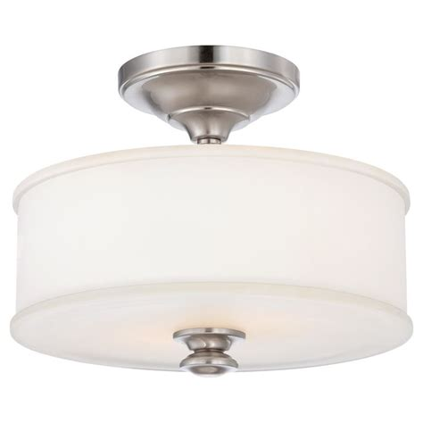 minka lavery ceiling fans minka lavery 4172 84 brushed nickel 2 light semi flush ceiling fixture in brushed nickel from