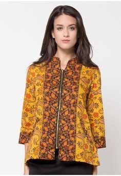 Atasan Batik Tradisional 5 16 atasan batik kerja wanita modern terkini 1000 model