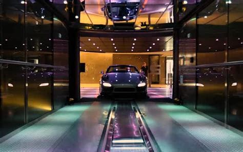 porsche design tower car elevator at the new porsche design tower in sunny isles beach the
