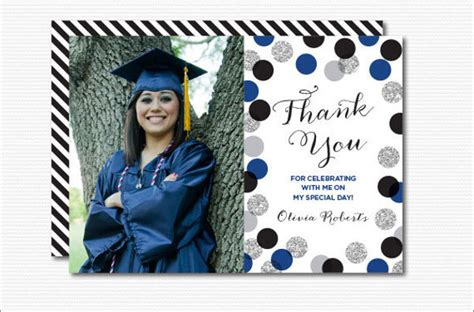 free graduation thank you card templates 7 graduation thank you cards design templates free