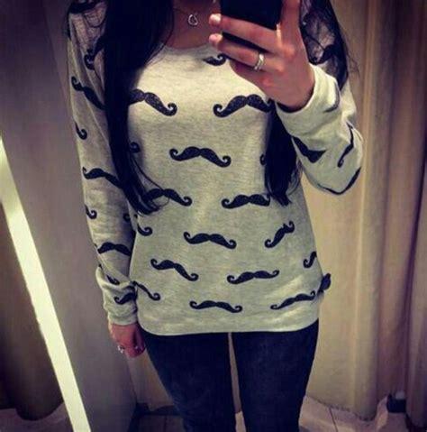 Sweater Moustache 54 sweater moustache winter sweater wheretoget