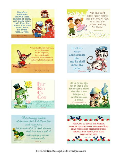 christian printables free printable christian message cards variety sheet 10