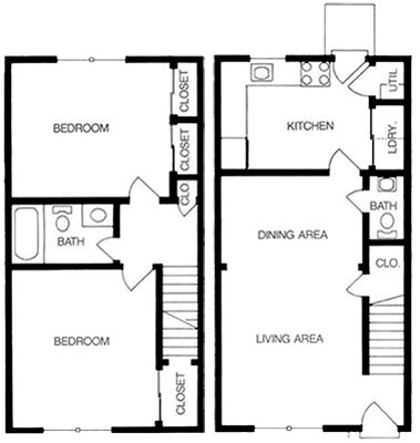 two bedroom townhouse floor plan apply online foxchase in richmond va