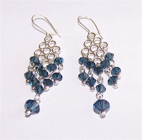 Handmade Beaded Earrings Designs - montana blue dangle earrings handmade beaded earrings by