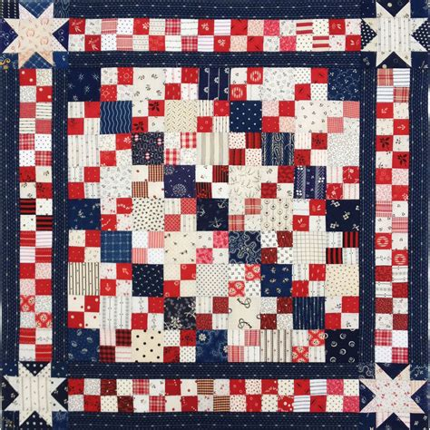 And Quilt by Patriotic 4 Patch Doll Quilt Top Q Is For Quilter