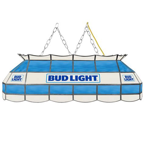 bud light light up glass trademark global bud l 3 light stained glass hanging