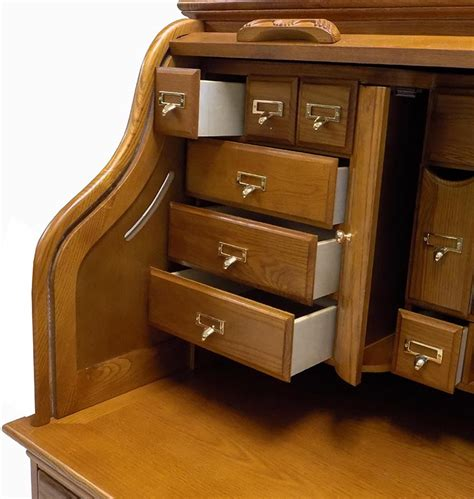 roll top desk 53 3 4 quot w deluxe oak roll top desk
