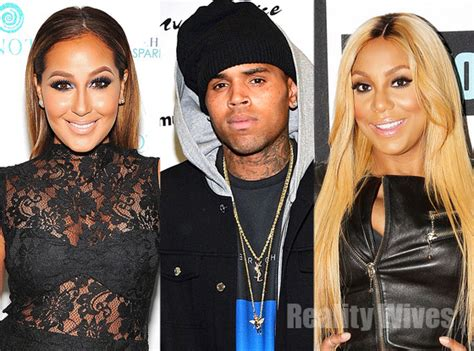 chris brown calls adrienne bailon quot trout b ch quot chris brown calls the real hosts adrienne bailon tamar