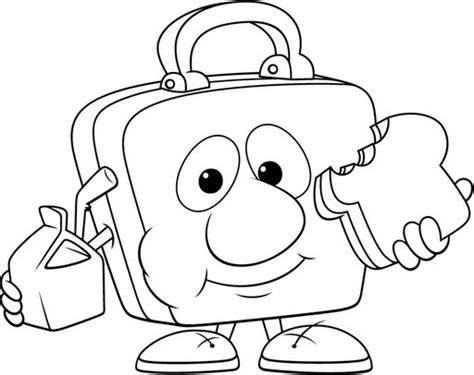 box coloring pages lunch box coloring pages kids