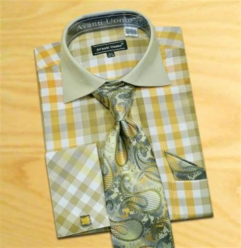 Dress Inc Necklace Material Cotton D8698 made in italy designer mauri olive gold white check