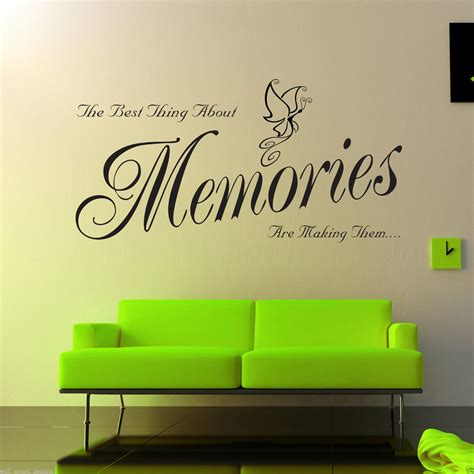 ebay wall stickers quotes memories wall sticker lounge room quote decal mural