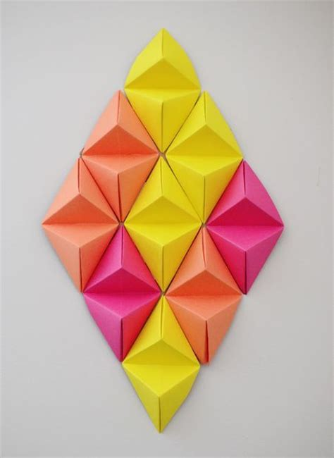 3d Geometric Origami - wall 3d pictures of paper wall and 3d paper