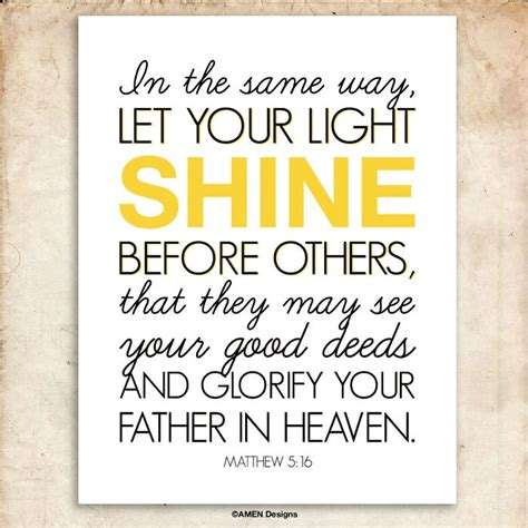 Let Your Light Shine Bible Verse by Matthew 5 16 Nursery Decor Let Your Light Shine 8x10
