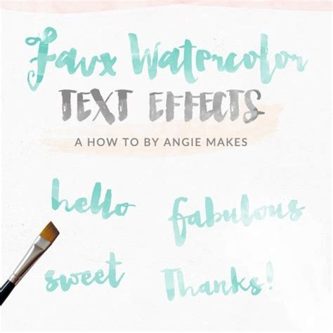photoshop tutorial watercolor text how to make a watercolor text effect design for free in