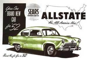 allstate new car fins of the 1952 allstate basic sedan