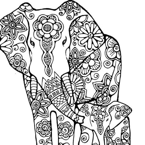 elephant coloring page for adults 315 best images about adult colouring elephants zentangles