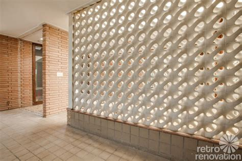 Decorative Concrete Block by Stunning 1955 Midcentury Modern House In Fort Worth