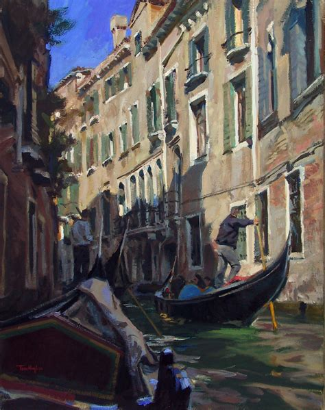 tom hughes on this morning realist oil paintings gondolier by tom hughes paintings