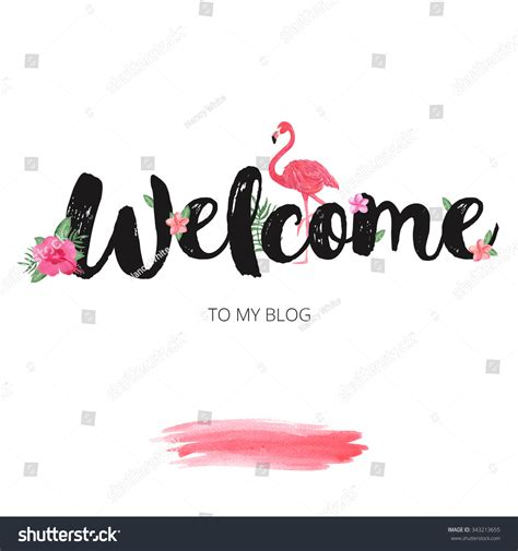design banner blog welcome banner design hand drawn watercolor stock