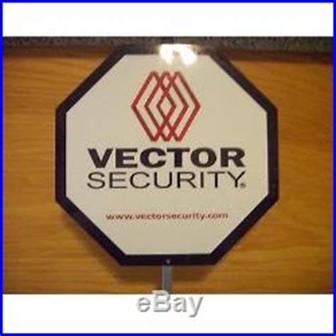 2 vector home security alarm yard signs 12 aluminum w 10