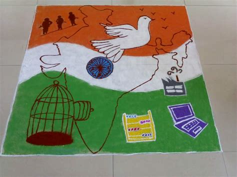 rangoli themes for republic day republic day posters slogans in hindi english for school