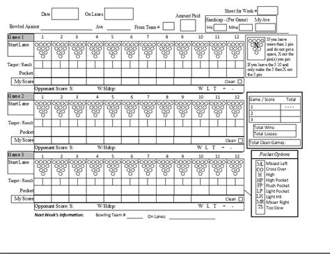 bowling score sheet printable bowling score sheet with pins gantt