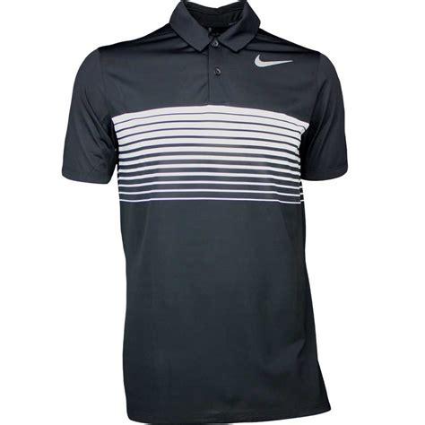 Golf Nike Black Shirt nike golf shirt mobility speed stripe black ss17