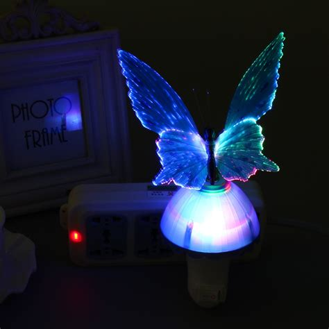 Creative Led Color Changing Night Light Light Control Butterfly Lights