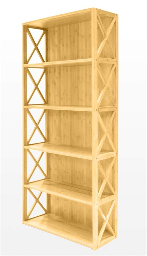 bookcase 5 book shelves bamboo furniture
