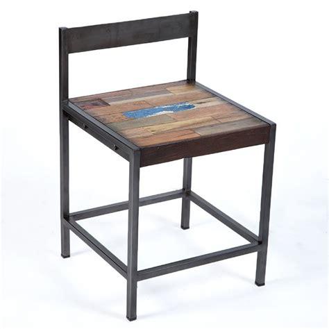 chaise industrielle fer et boisen vente chez orign s