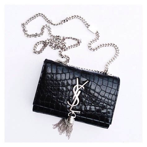 Cammie Hill Patent Leather Cinch Clutch by Laurent Small Tassle Ysl Cassandre Crocodile