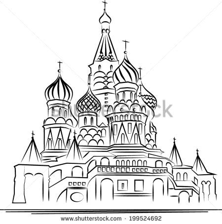 For Peace Moskav st basils cathedral moscow vector stock vector royalty