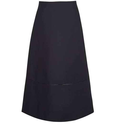 navy a line midi skirt dress