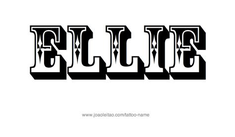 ellie name tattoo designs