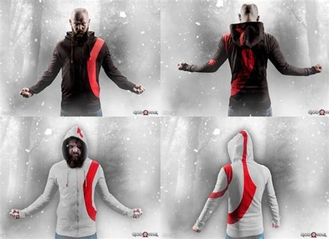 Jaket Zipper Hoodie Sweater God Of War 2 god of war gets awesome minimalist hoodies and more