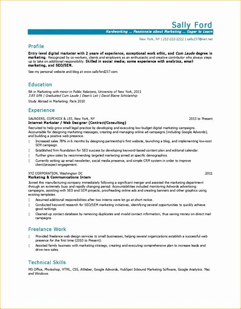 5 marketing resume exle free sles exles