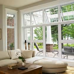 How To Hang Curtains On High Window awning window windy city windows