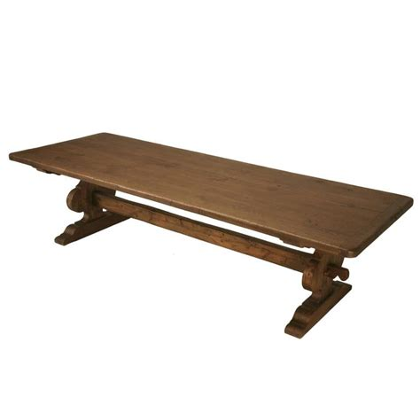 trestle dining tables with reclaimed wood italian trestle dining table from reclaimed wood for sale at 1stdibs