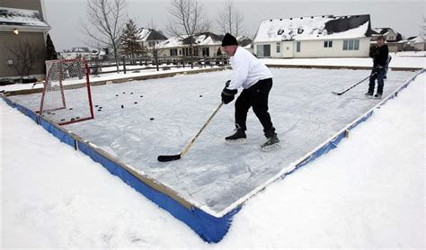 build a backyard hockey rink backyard rinks not big business the blade
