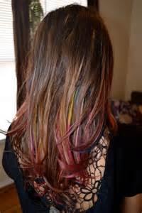 color streaks color streaks hair hair everywhere