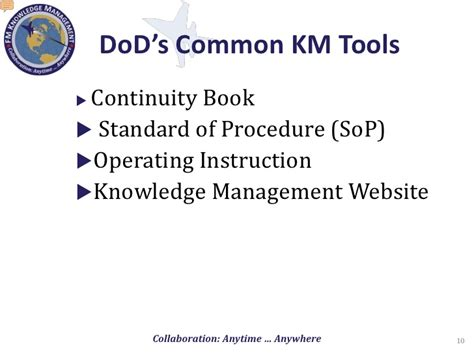army continuity book template knowledge management in the department of defense