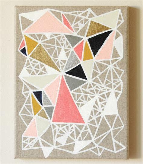 geometric pattern diy geometric painting knock off dans le lakehouse