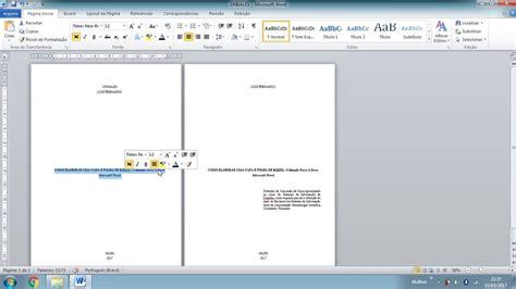 layout da web no word como colocar um trabalho nas normas abnt parte 2 capa e