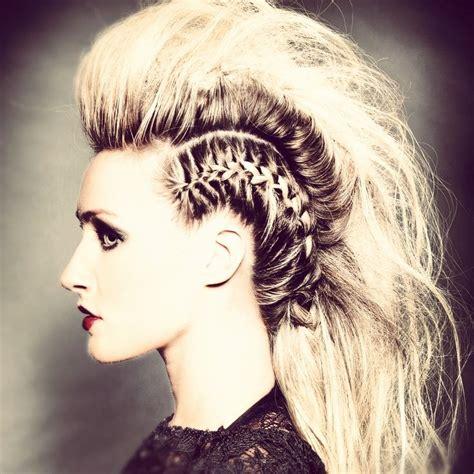 images of hair braiding in a mohalk pin by maeve madden on blonde love pinterest
