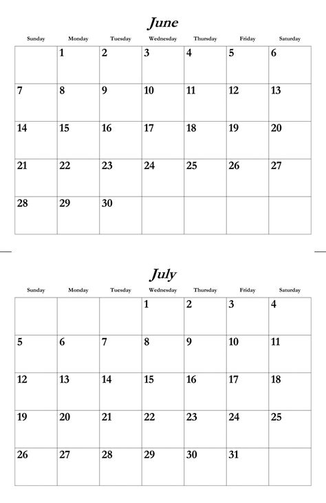 june  july calendar google search