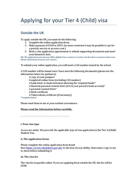 Financial Support Letter For Visa Application Visa Guidance Applying Outside The Uk Child By Fabio Carpene Issuu