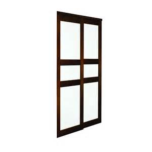closet sliding doors lowes espresso 3 panel sliding closet door lowe s canada